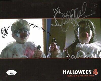 DANIELLE HARRIS & ERIK PRESTON signed 8x10 Photo HALLOWEEN 4 Michael Myers JSA - Halloween 4 Danielle Harris