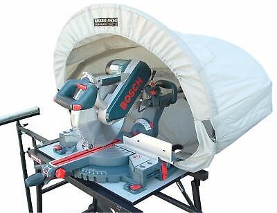 Miter Table Saw Dust Collection Hood Wood Work Shop Vacuum System Accessory Cove
