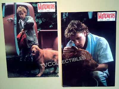 Lobby Card Lot x 2~ WATCHERS ~1988 ~ Corey Haim ~Horror