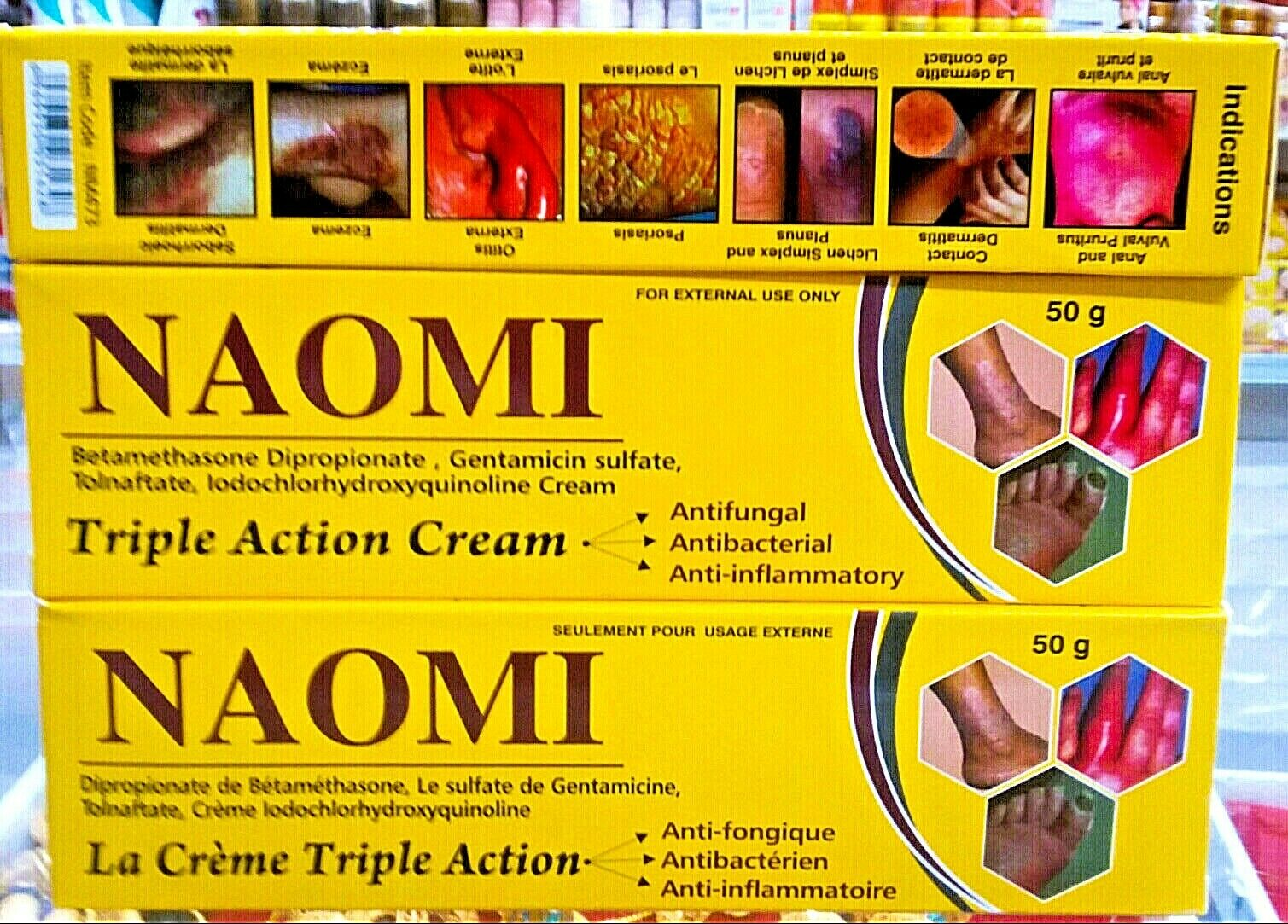 Naomi Triple Action Whitening Cream-Acne,Eczema & Dark Spots