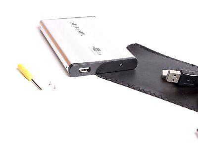 "BIGtec 2,5"" USB 2.0 Festplattengehäuse SATA HDD 480 Mbit/s Gehäuse silber"