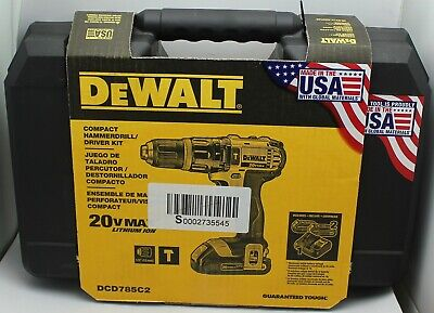 Dewalt Compact Hammerdrill Driver Kit Dcd785c2 20v Max 12 Never Opened