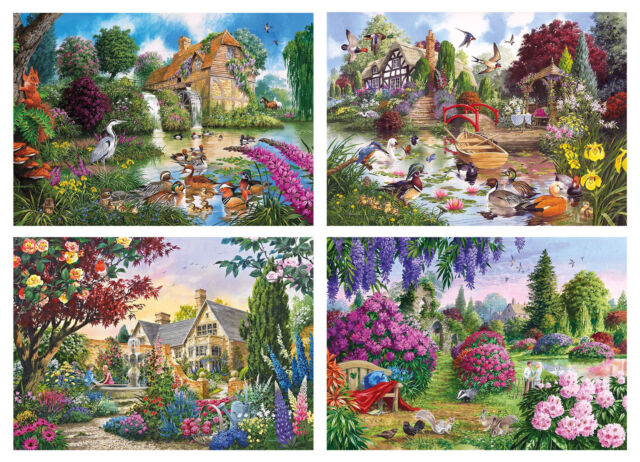 Gibson Flora & Fauna - Quality Jigsaw Puzzles 4 x 500 Pieces (Gibsons)