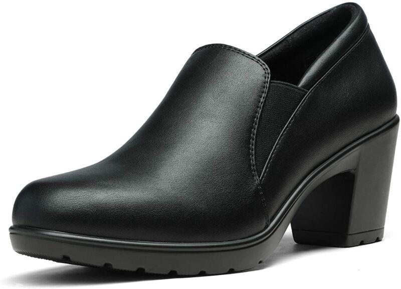 Women Block Chunky Low Heel Dress Pumps Casual Slip On Comfort Pump Shoes