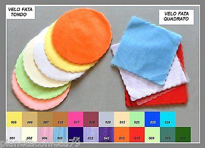 Set 50 pezzi, velo di fata (tulle), x confetti, bomboniere (TONDO O QUADRATO)