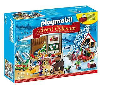 PLAYMOBIL Advent Calendar - Santa's Workshop Christmas Home Decor New