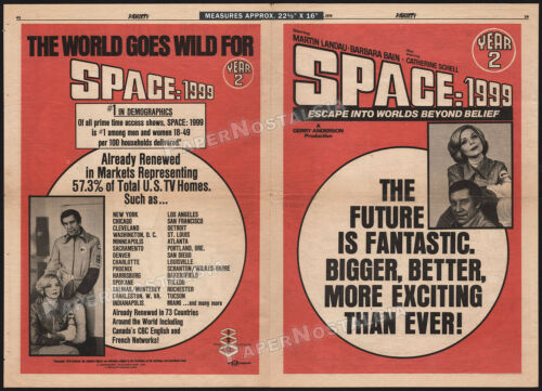 SPACE: 1999__Orig. 1976 Trade AD poster_TV promo__CATHERINE SCHELL_MARTIN LANDAU