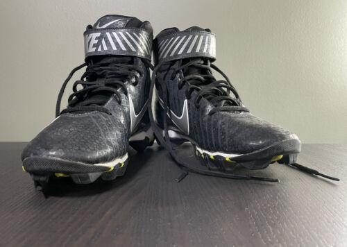 Nike Strike Shark Football Cleats High Top Black White 841657-002 Men s Size 7 - $14.97