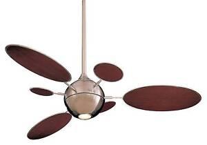Minka aire cirque ceiling fans ebay minka aire f596 bn cirque brushed nickel 54 aloadofball Images
