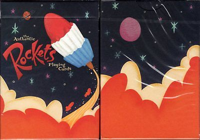 Rockets Playing Cards Poker Size Deck USPCC Ellusionist Custom Limited Sealed