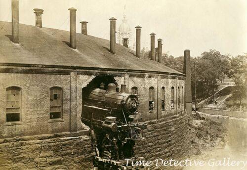 New York, New Haven & Hartford Railroad Locomotive Crash  - Historic Photo Print