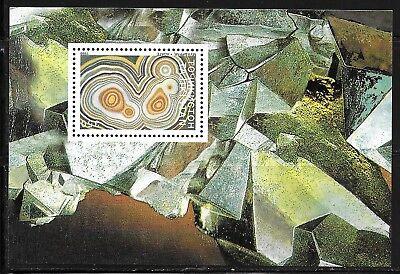 TAJIKISTAN SC 137 NH souvenir sheet of 1998 Gems Minerals
