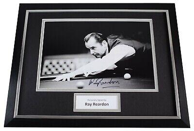 Ray Reardon Signed Autograph framed 16x12 photo display Snooker AFTAL Sport COA