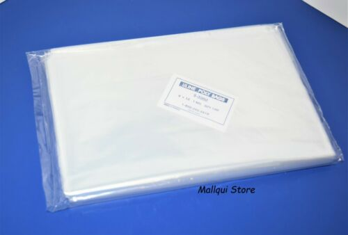 100 CLEAR 9 x 12 LAY FLAT OPEN TOP POLY BAGS PLASTIC  PACKING ULINE BEST 1 MIL