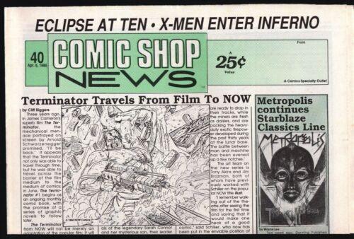 CSN COMIC SHOP NEWS # 40 1988 TERMINATOR TEENAGE MUTANT NINJA TURTLES ADVENTURES
