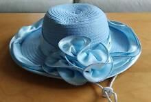 Handmade Women's Sky Blue Wide Brim Church/Dress Hat Mount Waverley Monash Area Preview