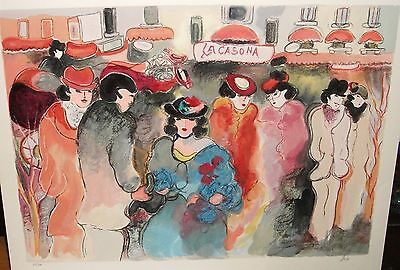 "ZULE MOSKOWITZ ""LA CASONA"" PARIS STREET SCENE LIMITED EDITION COLOR SERIGRAPH on Rummage"