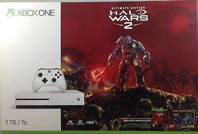 Xbox One S 1TB Console - Halo Wars 2 Bundle (Damaged Box)