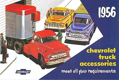 Chevrolet Truck Accessories Brochure - 1956 CHEVROLET TRUCK  GENUINE ACCESSORIES BROCHURE