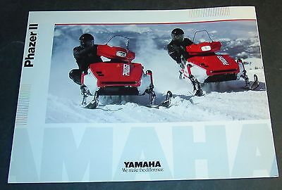 1990 YAMAHA PHAZER II SNOWMOBILE SALES BROCHURE 4 PAGES     (764)