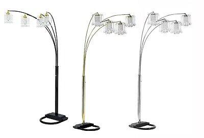 Crystal Like - Elegance U Shaped Base 4 Arm Chandelier Crystal-Like Shades Floor Lamp