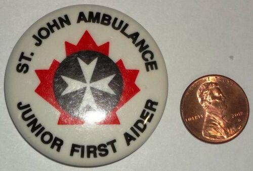 BSA BSC ST.JOHN AMBULANCE JUNIOR FIRST CANADIAN PIN