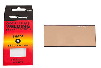 Forney 57060 Replacement Welding Safety Glass Lens Eye Protective Shade 9 Gold