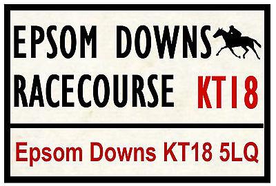 HORSE RACING ROAD SIGNS (EPSOM) - FUN SOUVENIR NOVELTY FRIDGE MAGNET - GIFT