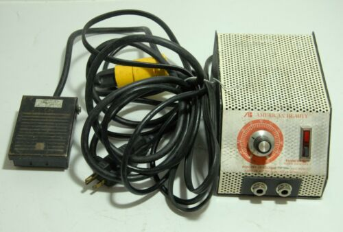 American Beauty 105A12 Resistance Soldering Power Unit 2500V w/ foot pedal