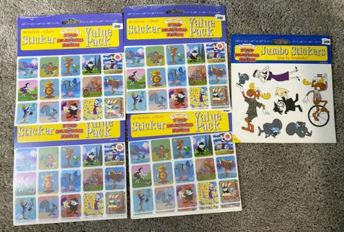 Vintage  Boris & Natasha Rocky & Bullwinkle Car  246 Stickers NOS Sealed