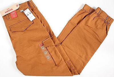 Levi's Banded Cargo stretch Jogger Pants- NEW- Harvest Gold- slim fit levis-