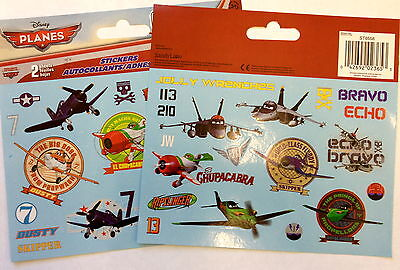 36 Disney Planes  Stickers Party Favors Teacher Supply ( 2 Sheets) Dusty Skipper - Dusty Party Supplies