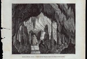 FRANCIA-FRANCE-CORSICA-GROTTE-DI-BRANDO-XILOGRAFIA-LE-MAGASIN-PITTORESQUE-1868
