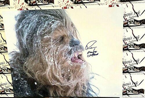 Peter Mayhew Chewbacca Star Wars JSA Autographed 16x20 Photo George Lucas RACC 2