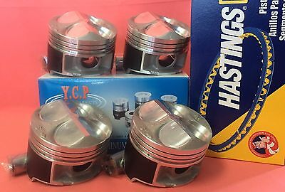YCP B16 B18 81mm JDM High Compression Pistons + Rings Acura Honda Civic Type R  Piston Compression Rings