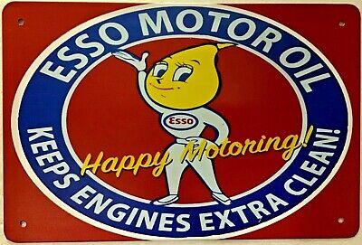 TIN SIGN 8x12 Esso motor oil gas station Americana mechanic garage car auto wall