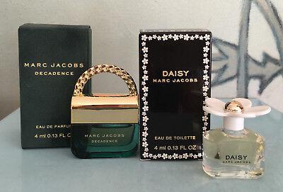 Marc Jacobs Daisy & Decadence Perfume .13 oz / 4 ml Each NIB