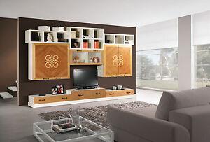parete attrezzata provenzale bicolore : PARETE-ATTREZZATA-BICOLORE-COMPONIBILE-IDEALE-COME-LIBRERIA-VETRINA-E ...