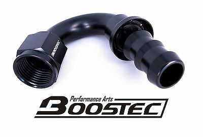 - BOOSTEC Push On/Socketless Hose End/Fitting 10AN AN10  150 degree Black