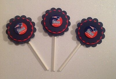 Nfl New England Patriots Cupcake Toppers - Patriots - Patriots Birthday - - Patriots Birthday