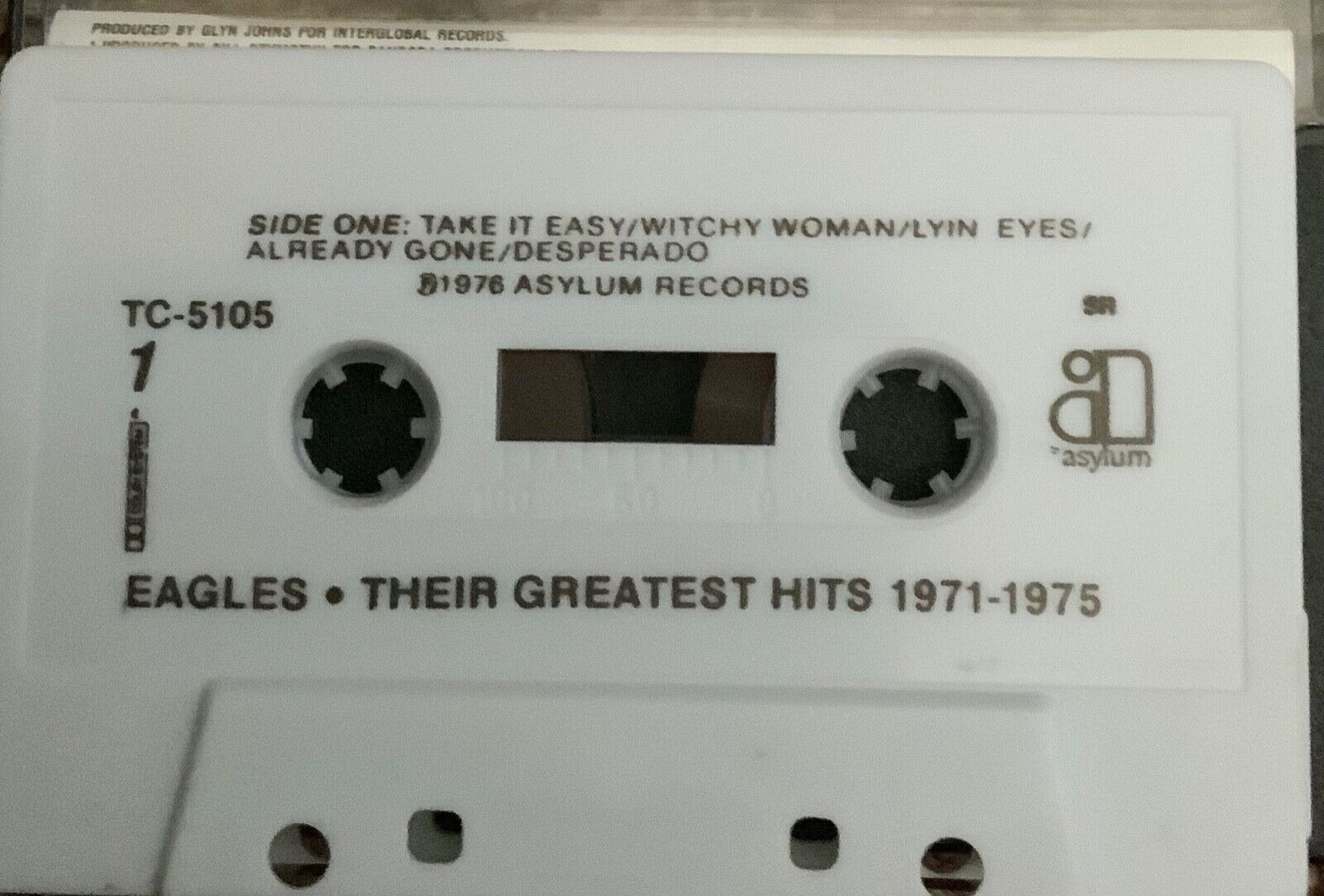 Eagles Their Greatest Hits 1971 - 1975 Cassette TC-5105 From 1976 - $9.99