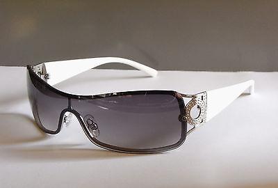 Sonnenbrille Damen / Herren Unisex Schwarz Weiß Modell 188 Verlaufsgläser NEU !!