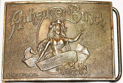 ATA-03 Brass Belt Buckle Anheiser Busch Brewery Fairchild Beane & Adams Mint