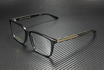 GUCCI GG0385Oa 001 Shiny Black Demo Lens 55 mm Men's Eyeglasses