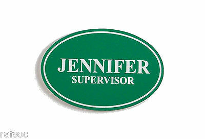 2.25x1.5 Employee Personalized Name Tag Badge Custom Engraved Magnet Latch
