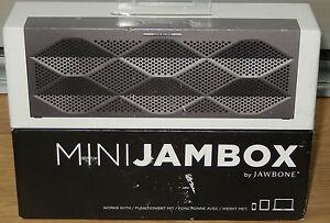 JAWBONE MINI JAMBOX  BLUE TOOTH LAUTSPRECHER GRAU   NEU OVP