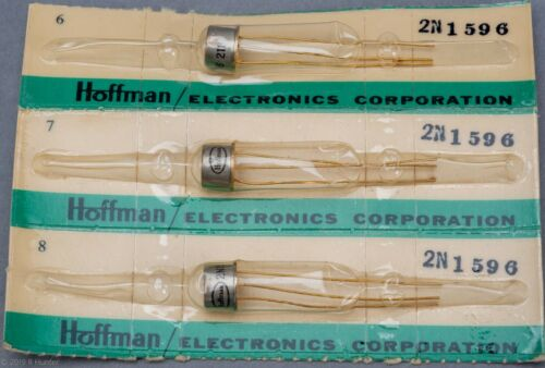 2N1596 SCR, TO-39, 1.6 AMPS AT 100 V Hoffman. NOS 3 pc