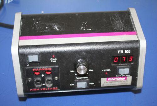 FISHER BIOTECH ELECTROPHORESIS SYSTEM FB 105 POWER SUPPLY 115VAC 50/60Hz