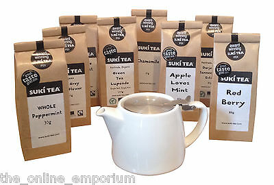 WHITE 18oz FORLIFE LOOSE LEAF TEAPOT WITH STRAINER & PACK OF