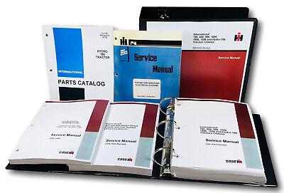 International Hydro 186 Tractor Service Repair Shop Manual Parts Catalog Oh Set